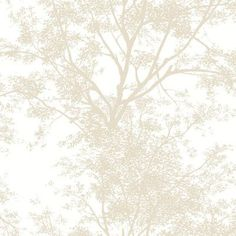 """York Wallcoverings Black and White Tree Silhouette 27' x 27"""" Floral and Botanical Embossed 3D Roll Wallpaper"""
