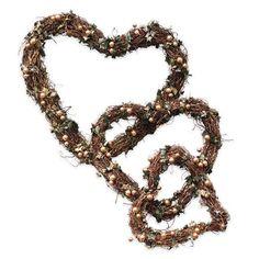 Guirnaldas con forma de corazón de Gisela Graham, dorado www.achica.es
