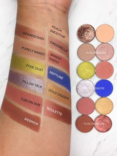 KYLIE COSMETICS THE ROYAL PEACH PALETTE DUPES WITH MAKEUP GEEK EYESHADOWS