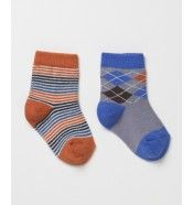 PACT Baby Electric Blue Argyle Sock