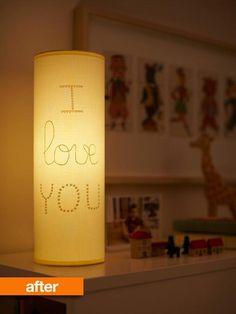 secret message lamp | love!!