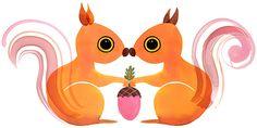 Margaret Berg Art: Squirrel+Love