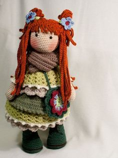 Crochet pattern for doll ELLIE pdf Deutsch English