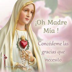 VIRGEN MARÍA, RUEGA POR NOSOTROS : IMÁGENES CON MENSAJES DE LA VIRGEN MARÍA I Love You Mother, Mother Mary, Catholic Prayers, Catholic Quotes, Faith In Love, Peace And Love, La Salette, Giving Thanks To God, Verge