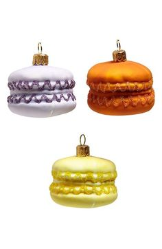 Nordstrom at Home Macaroons Glass Ornaments (Set of 3) available at #Nordstrom