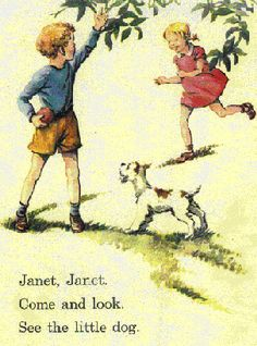 At least janet's smiling! I Love Books, Good Books, Books To Read, My Books, Janet And John Books, Vintage Children's Books, Antique Books, Vintage Photos, My Childhood Memories