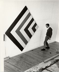 Citation: Kenneth Noland in his studio, 1965 / Andre Emmerich, photographer. André Emmerich Gallery records and André Emmerich papers, Archives of American Art, Smithsonian Institution.