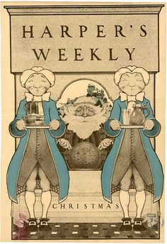 Maxfield Parrish - Harper's Weekly Christmas (December 19, 1896)