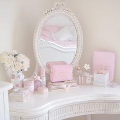 Styling My Princess Dressing Table, Girly Bedroom, Vanity, Makeup Storage | Love Catherine