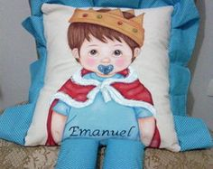 Almofada boneco Principe com perninhas