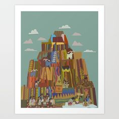contemporary disney hotel tribal pattern mountain Indian