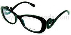 Prada PR 09PV Prada PR09PV 1AB101 Black Prada Frames   Free Prescription Lenses   UK Opticians
