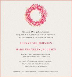 Dot Wreath - Wedding invitation cards
