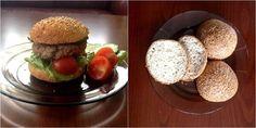 Paleo hamburger zsemle ~ Éhezésmentes Karcsúság Szafival Hamburger, Paleo, Breakfast, Ethnic Recipes, Food, Morning Coffee, Essen, Beach Wrap, Burgers