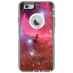 CUSTOM OtterBox Defender Case for Apple iPhone 6 / 6S / 6 PLUS / 6S PLUS - Personalized Monogram - Horsehead Nebula Pink