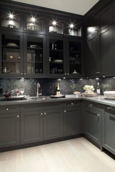 black on black kitchen! Very nice