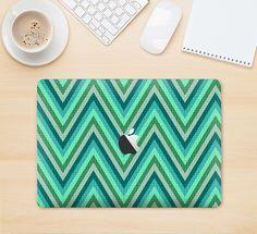 """The Vibrant Green Sharp Chevron Pattern Skin Kit for the 12"""" Apple MacBook from DesignSkinz"""
