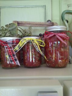GIFT salsa for Christmas just add ribbon