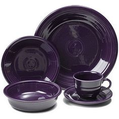My Fiestaware combination includes: Plum to complete my Rainboware Fiestaware! :D  Now that's a FIESTA!