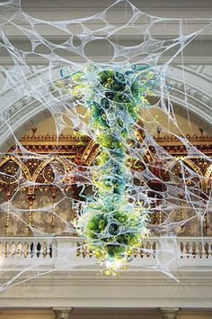 shane waltener. chihuly doily installation at the victoria and albert museum