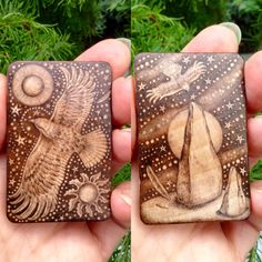 Double sided Birchwood Tablet