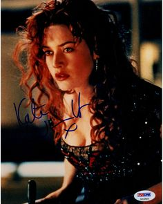 Kate Winslet Signed 'Titanic' In Dress Leaning Forward 8x10 Photo (PSA/DNA)