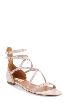 Valentino 'Love Latch' Strappy Grommet Sandal (Women)
