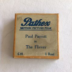 """Pathex Films C-91 """"The Flivver""""  a Hal Roach 1 Reel Comedy, 9.5mm Silent Movie Starring Paul Parrot by CoolOldStuffIFound on Etsy https://www.etsy.com/listing/269872865/pathex-films-c-91-the-flivver-a-hal"""