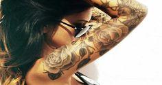 Sleeve-Tattoo-Design-for-Women-flowers.