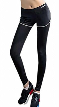 026abe5093 XTX Womens Jogging Sport Fake Two Pieces Gym Yoga Leggings Pants Gray Large  * Amazon most trusted e-retailer #YogaLeggings