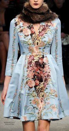 Love the sleeves and carry through of the same design. | Fall 2014 Ready-to-Wear Antonio Marras