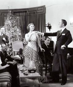 William Powell and Myrna Loy. Christmas Party in The Thin Man.