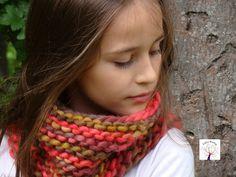 Tejidos Artesanales, Cuello para ni;os tejido con dos agujas, composicion 100% lana