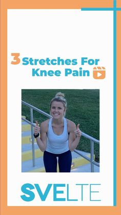 svelte_training on Instagram: Struggling with knee pain?������ Coach Grace is here with 3 awesome stretches to help relieve knee pain!������������ Everyone deals with pain and… #HeelNervePain #ToothNervePainRelief Stretches For Knees, Vitamins For Nerves, Tooth Nerve, Knee Pain Relief, Knee Exercises, Nerve Pain, Medical Prescription, Back Pain