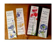 Friendship  Bookmarks - Digital Collage Sheet - Instant download and print