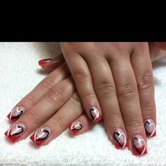 I did these nails on my client Jenna today, love how they turned out.