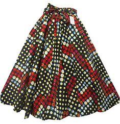 Decoraapparel African Clothing Women Girl Wax Print Long Wide Flared Ankara Elastic Waist Maxi Skirt Plus Size Belt Pocket (Red One Size) Ankara Rock, Ankara Skirt, Vintage Skirt, Vintage Tops, African Wear, African Skirt, Long Skirts For Women, Elastic Waist Skirt, Flare Skirt