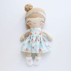 And this girl! Her kitty dress may be my absolute favorite...ever.  She'll be available tomorrow as well. I didn't get as many Posies made as I was hoping, but I wanted to throw at least one in there for all the Posie votes.