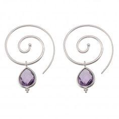 Ananda Vitality Earrings . Sterling Silver . Amethyst
