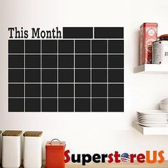 Wall decals daily planner is a fun way to decorate an office.