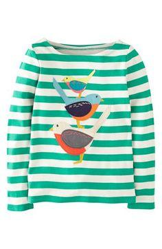 Mini Boden '#Stripy #Animal' Tee (Toddler Girls, Little Girls & Big Girls) available at #Nordstrom