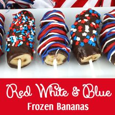 Red White and Blue Frozen Bananas