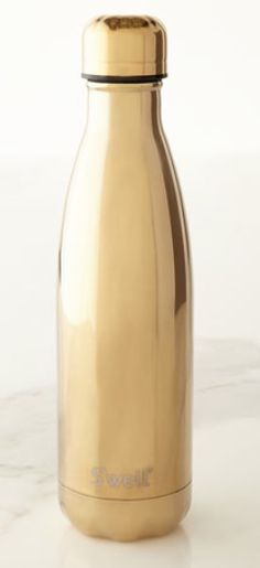 Bottle may be used as a water bottle or to hold other beverages. Made of double-walled stainless steel. Nontoxic, non-leaching, and BPA free. Swell Water Bottle, Best Water Bottle, Water Bottles, I Need Love, Golden Goddess, Mommy Style, Cutest Thing Ever, Give It To Me, Beachbody