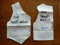 How to make a piece of baby clothing. Waistcoat - Step 1