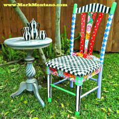 Alice in Wonderland Chair and Table.  Mark Montano.  Wasn't able to pin from You Tube.