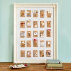 Poster calendrier de l'avent DIY Noël