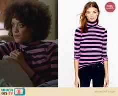 Remy's pink striped turtleneck on Ravenswood. Outfit Details: http://wornontv.net/24981 #Ravenswood #fashion