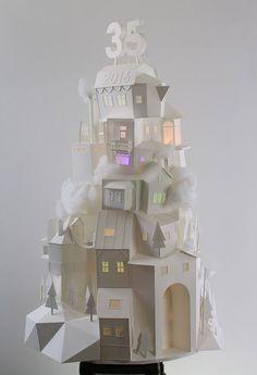 Casitas de papel en 3D de Vera Van Wolferen - Esto no es arte