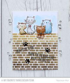 RejoicingCrafts: MFT April Release Countdown Day 4. MFT Cool Cat Stamp Set. #mftstamps #watercolor #cat