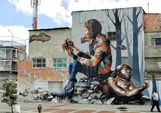Bogotá, Colombia [Painting by Fintan Magee / GIF via Alcrego]